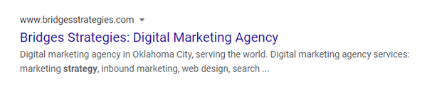 Algorithmic Credibility - Title Tags on Search Results